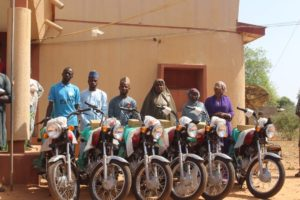 Field Officers with their new bikes